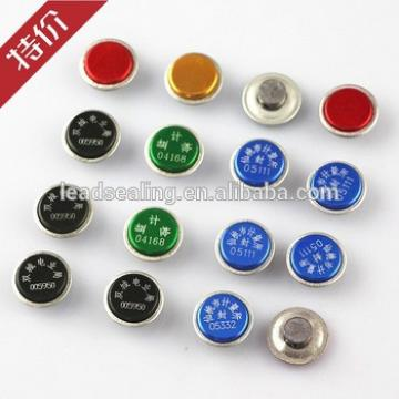 SL-01B 15*7mm Small Water/Electric Meter Seal Lead Seal Anti-theft Seal 5 color Aluminum